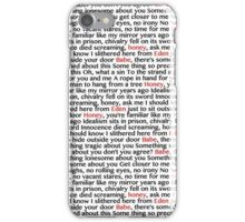 from eden lyrics by hozier iPhone Case/Skin