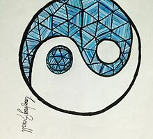 Blue YingYang by CourtneyBoxall