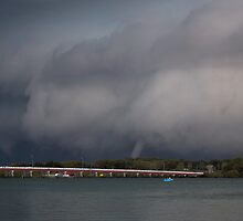 Waterspouts in Pumicestone Passage by JLOPhotography