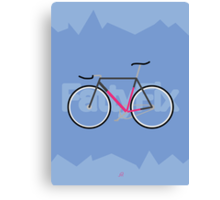 Fattyfix - fixie poster by JeppeRIngsted Canvas Print