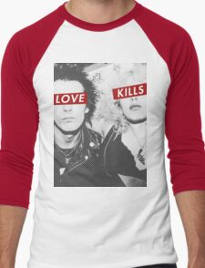 Love Kills - Sid & Nancy Men's Baseball ¾ T-Shirt