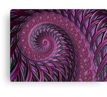 Maroon fractal spirals Canvas Print