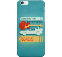 Back To The Future Illustration iPhone Case/Skin