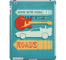 Back To The Future Illustration iPad Case/Skin