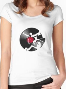 record Women's Fitted Scoop T-Shirt