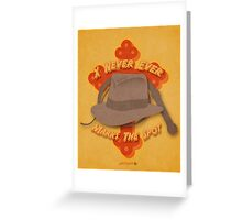 Indiana Jones Illustration Greeting Card