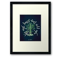 Lord of the Rings Illustration Framed Print