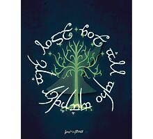 Lord of the Rings Illustration Photographic Print