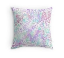 Psychedelic Watercolor - Azalea Throw Pillow