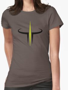 Green and Black Quake III Arena Womens Fitted T-Shirt