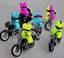 Biker Bunnies by BrianJoseph