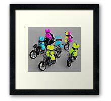 Biker Bunnies Framed Print