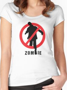 No Zombie Women's Fitted Scoop T-Shirt