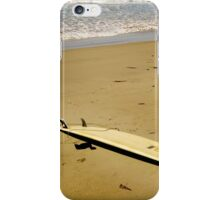 Surf Board in the sand iPhone Case/Skin
