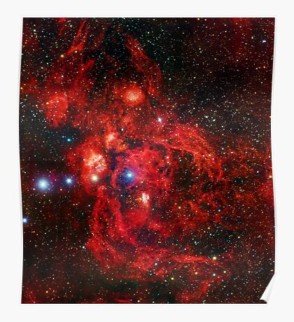 Lobster Nebula Triangle   Fresh Universe Poster