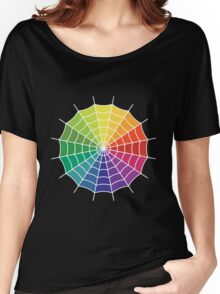 Spider Web - Color Spectrum Segment White Women's Relaxed Fit T-Shirt