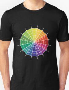 Spider Web - Color Spectrum Segment White T-Shirt