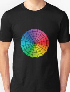 Spider Web - Color Spectrum White T-Shirt