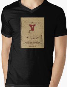 Big Vitruvian Theory Mens V-Neck T-Shirt