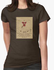 Big Vitruvian Theory Womens Fitted T-Shirt