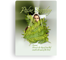 Palm Sunday - Jesus in the palms Canvas Print
