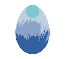 Blue Feather Easter Egg by mrmoustache