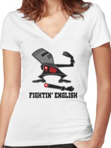 Fightin' English Women's Fitted V-Neck T-Shirt