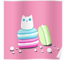 Macarons and Cat Poster