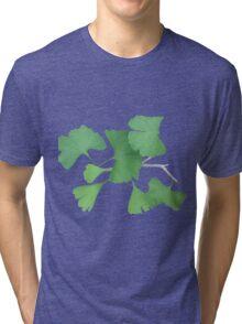 Ginkgo Leafy Branch   Tri-blend T-Shirt