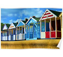 Beach huts Poster
