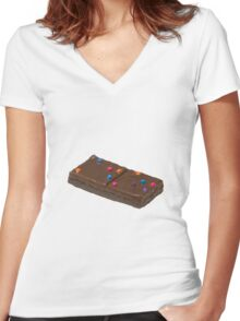Cosmic Brownie Women's Fitted V-Neck T-Shirt