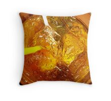 Rum and coke cocktail Throw Pillow