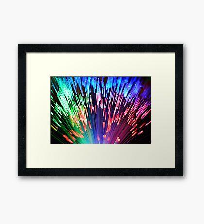 Multi-colored fibre optics Framed Print