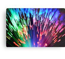 Multi-colored fibre optics Metal Print