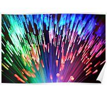 Multi-colored fibre optics Poster