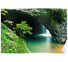 Natural Bridge Waterfall Poster