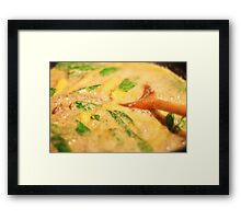 Thai Green Curry cooking Framed Print
