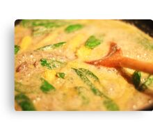 Thai Green Curry cooking Canvas Print