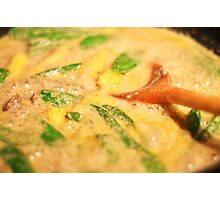 Thai Green Curry cooking Photographic Print