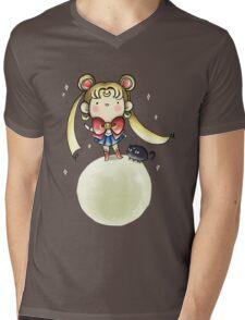 Sailor Moon and Luna Mens V-Neck T-Shirt