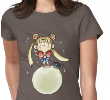 Sailor Moon and Luna Womens Fitted T-Shirt