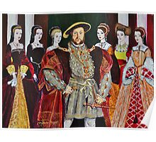 King Henry 8th and His Six Wives Poster