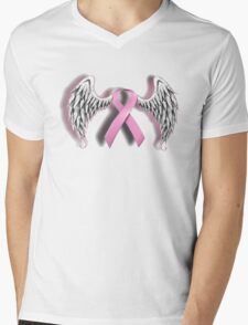 the cancer patient that pasted on Mens V-Neck T-Shirt
