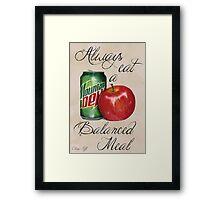 A Balanced Meal Framed Print