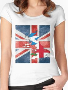 United Kingdom of Great Britain and Northern Ireland Women's Fitted Scoop T-Shirt
