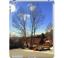 Trees and a farm in winter wonderland | landscape photography iPad Case/Skin