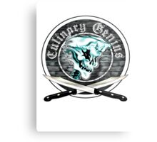 Skull Chef 8: Culinary Genius Metal Print
