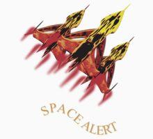 Space Alert a trio of Space Interceptors T-shirt design Kids Clothes
