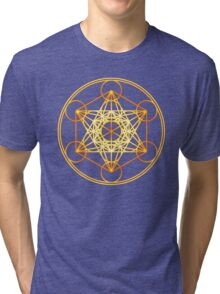 Metatrons Cube, Flower of life, Sacred Geometry Tri-blend T-Shirt