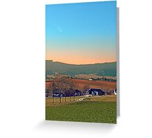 Avenue with trees, sunset and panorama | landscape photography Greeting Card